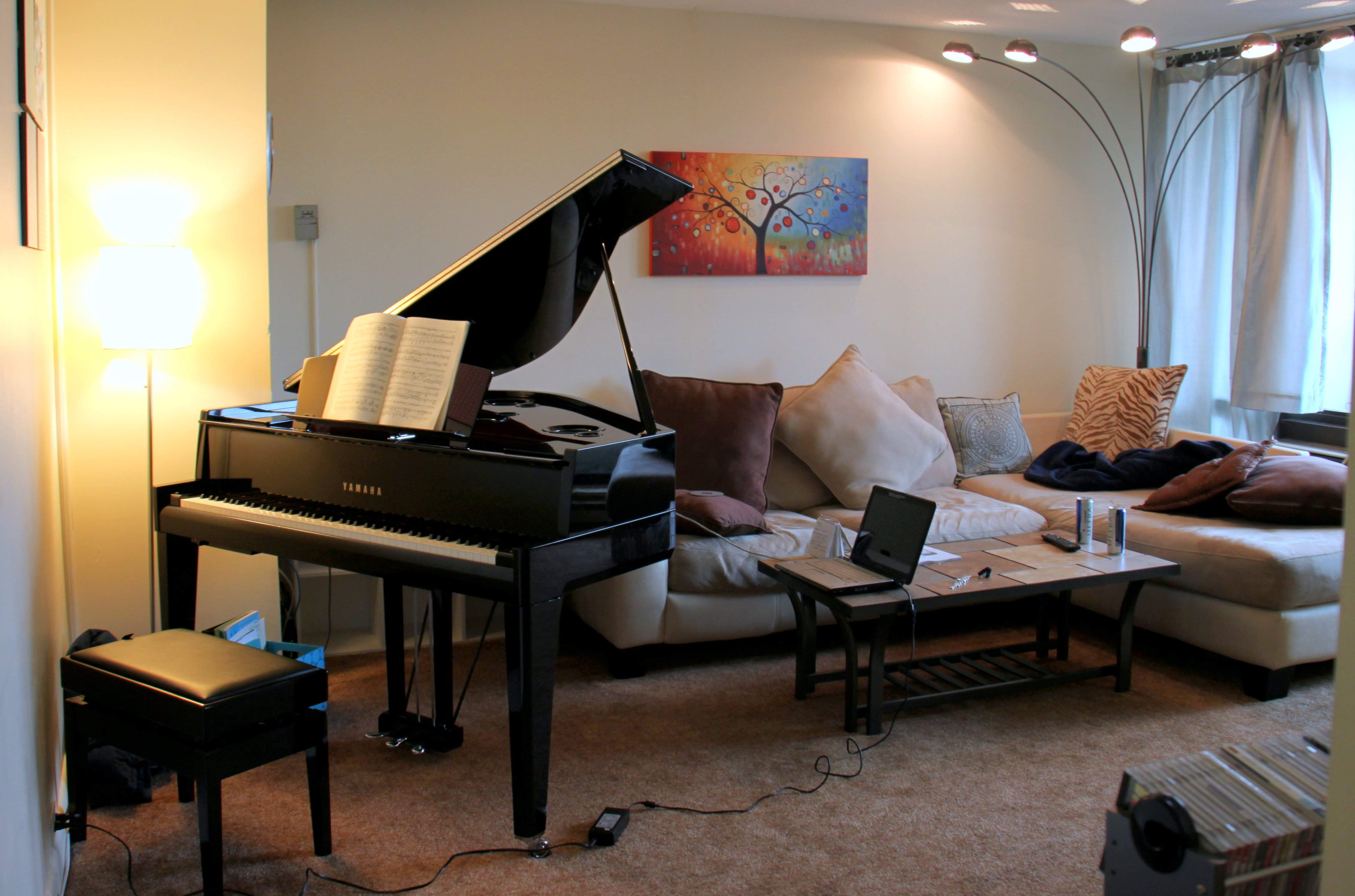 Review yamaha avantgrand n3 helen hou sand for Where to put a piano in a small house